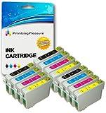 12 Premium Druckerpatronen für Epson Stylus S20 S21 SX100 SX105 SX110 SX115 SX200 SX205 SX210 SX215 SX218 SX400 SX415 SX515W D78 D92 D120 B300F | kompatibel zu Epson T0711 T0712 T0713 T0714 (T0715)