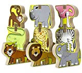 Safari Themed Stacking Chunky Puzzle Set