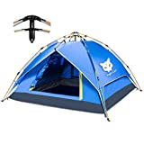 Night Cat Tente DE Camping 2 3 4 Personnes Instant Pop UP Dome DE Vacances Automatique Facile A Monter pour LA Randonnee en Plein AIR Tente Double Couche