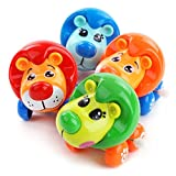 #9: Emob Cute Lion Toys Wind-up with Winding Chain and Moving Wheels Feature for Toddlers (Lion)