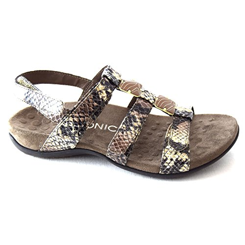 5cc7757f1066 Vionic Womens Rest 44 Amber Natural Snake Synthetic Sandals 41 EU