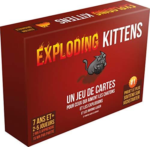 Asmodee Exploding Kittens, ekek01fr, Juego de Cartas