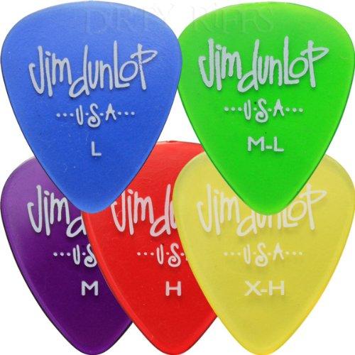 20 x Dunlop Gels Plektren Guitar Picks/Plektren - 4 In Plektrumdose von jeder Größe