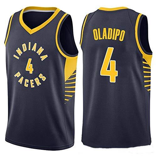 ZAIYI-Jersey Herren Basketball Jersey Victor Oladipo # 4 NBA Indiana Pacers-New Stoff Bestickt Swingman Jersey ärmelloses Shirt (Color : B, Size : M) (Indiana Basketball Bekleidung)