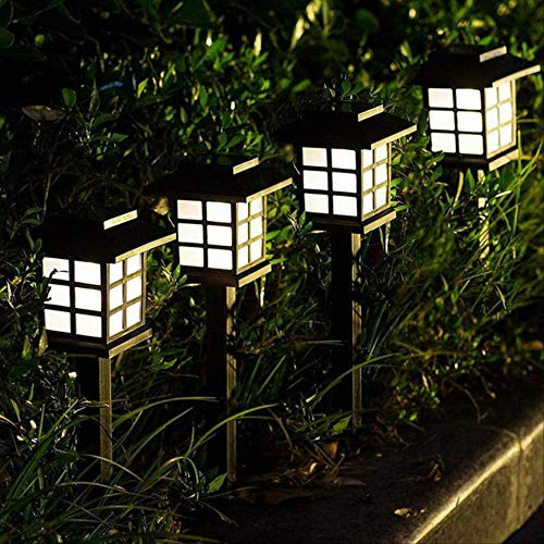 XYQY 2-20 Pack Led Solar Pathway Lampen Lampen Outdoor wasserdicht Solar Garten Rasenlampen für Garten Landschaft Path Yard Patio Gehweg 6PCS weiß