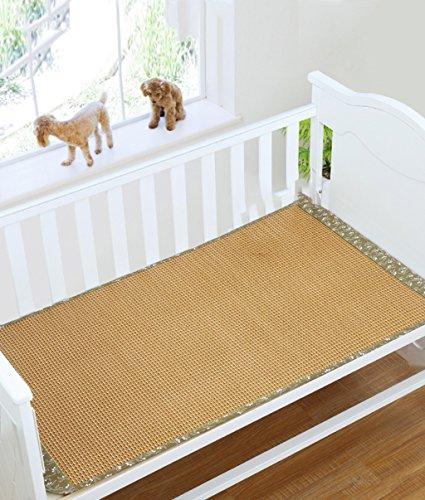 Stuoia a doppia faccia Usa --- Tappeti estivi Tappetini per lettini per bambini baby trolley per neonati / asili nido Bambini neonati Tappetino speciale per bambini / pad --- ripiani pieghevoli naturali di bambù e rattan