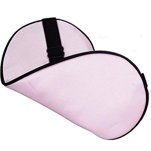 Toim 100% Seda materail Antifaz para dormir de seda máscara de dormir con correa ajustable ambos lados (20* 10cm/azul color), rosa