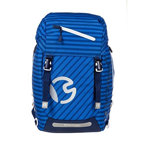 ergonomischer Schulrucksack 28l Classic Blue Stripes und Heftmappe von Veloflex geschenkt