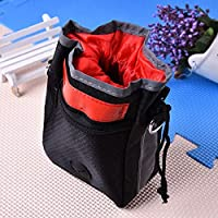 Veena Hot Sale Dog Mini Travel Garbage Bag And Snack Bags Waste Bag Scoop For Garbage Bags For Cat Dog Red