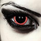 "Mini sclera lentillas de colores negro y rojo para Halloween vampiro costume 17mm lentes de tres meses sin dioprtías / corregir + gratis caso de lente ""Contagious"""