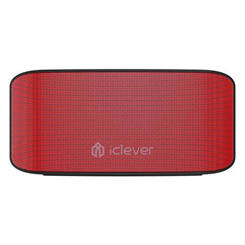 Altoparlanti Bluetooth, ricaricabile Iclever mini altoparlante da viaggio, con bassi, super-dimensioni 5W driver (rosso)