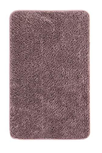 Andiamo Microfaser Badteppich-Verschiedene Farben und Größen-Oeko-Tex 100-Badvorleger eckig Badematte, Polyester, grau, 70x120 cm