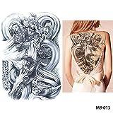 adgkitb 2pcs Full Back Chest Tattoo Sticker Wolf Tiger Dragon MB 013 34x48cm