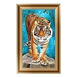 logres 5D Tiger Diamant Stickerei Gemälde Kreuzstich Craft Art DIY Home Decor