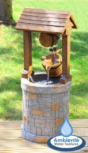 Fuente de agua solar en forma de pozo