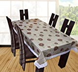 #5: Yellow Weaves Waterproof 3D Effect Dining Table Cover 60*90 Inches