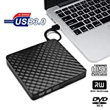 ALCST&CX 3.0 Slim Portable Externe DVD-RW DVD CD Brenner Externes DVD Laufwerk USB für Laptop, Desktop, Notebooks Windows Vista/XP / Win 7 / Win 8 / Win 10 und MacBook Air/Pro / iMac