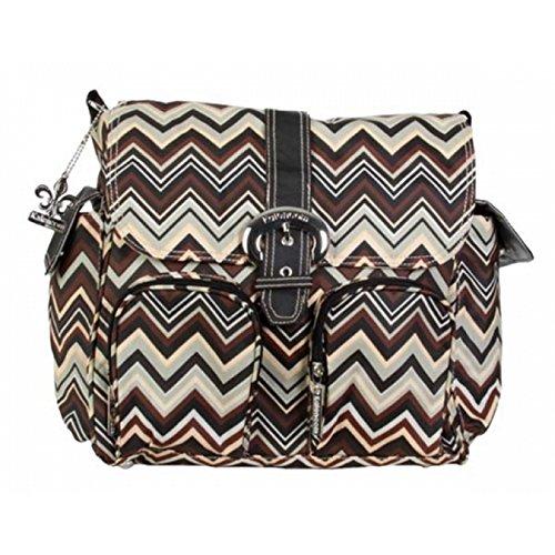 kalencom-bolsa-de-panales-double-duty-con-revestimiento-impermeable-brown-zigzag-negro-marron