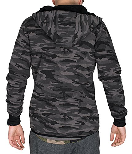 BetterStylz WhitefishBZ Herren Regular Fit Kapuzen Jacke Zip Übergangsjacke Hooded Camouflage in 2 Farben (S-XL) - 4