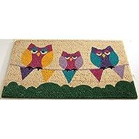 Gardman Sleepy Owls Printed Coir Door Mat 82514