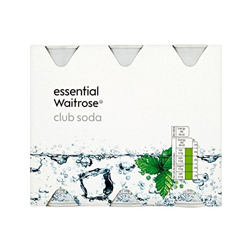 Club Soda Waitrose Essentielle 6 X 250Ml (Paquet de 6)