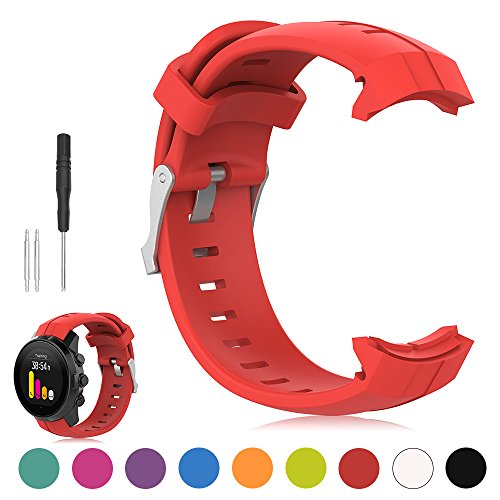 Suunto Spartan Multisport Sport GPS-Uhr Uhrenarmband - iFeeker Soft Silikon Ersatz Armband Smartwatch Strap für Suunto Spartan Multisport Sport GPS-Uhr (kein Uhrgerät, Ersatzband nur)