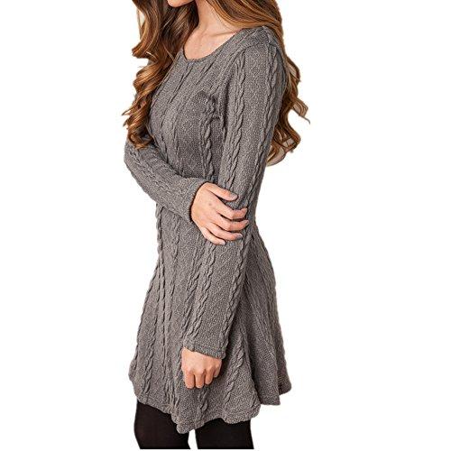 ASCHOEN - Robe - Manches Longues - Femme Gris
