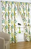 Impressions Izabelle Olive Fully Lined Readymade Curtain Pair 90x90in(228x228cm)