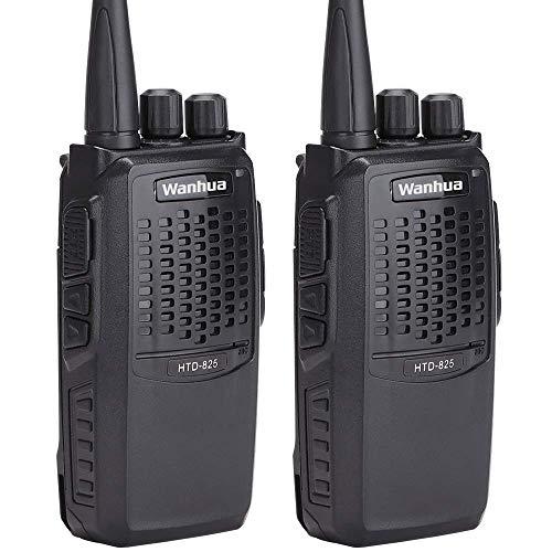 Walkie Talkie Funkgerät Wanhua HTD825 Long Range 3500mAh Batterien 16CH 2-Wege-Handfunkgerät mit USB-Ladekabel 2Pack Zwei-wege-handfunkgerät