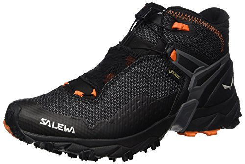 SALEWA Ultra Flex Mid Gore-Tex, Scarpe da Arrampicata Alta Uomo, Multicolore (Black/holland), 42 EU