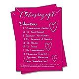 Polarkind Postkarte Grusskarte Liebesrezept Liebe Karte zum Valentinstag