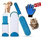 E.C – Magische Bürste gegen Flusen – entfernt leicht die Tierhaare von Tierhaaren Domestiques – schnelle Reinigung – Anti-Fell und Peluches – Perfekt für Hunde und Katzen, wiederverwendbar.