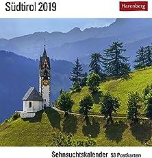 Südtirol - Kalender 2019: Sehnsuchtskalender, 53 Postkarten