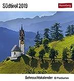 Südtirol - Kalender 2019: Sehnsuchtskalender, 53 Postkarten -