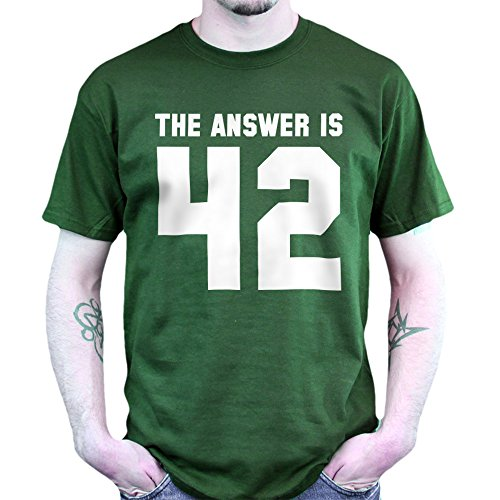 The Answer To Life is 42 T-shirt Jungle Green