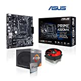 Memory PC Aufrüst-Kit AMD Ryzen 3 2200G AM4 QuadCore Summit Ridge 4x 3.6 GHz, Ohne RAM, ASUS Prime A320M-K, USB 3.1, SATA3, 7.1 Sound, M.2 Sockel, GigabitLan, MultimediaKIT, komplett fertig montiert und getestet
