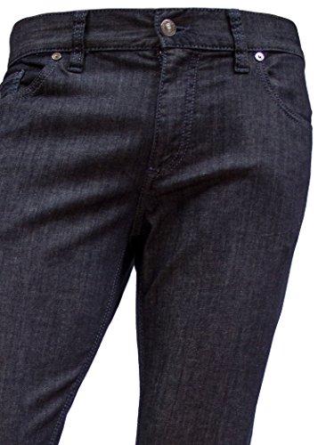 Alberto Herren Jeans Pipe Regular Slim Fit T400® Light Denim Dark Blue Blau