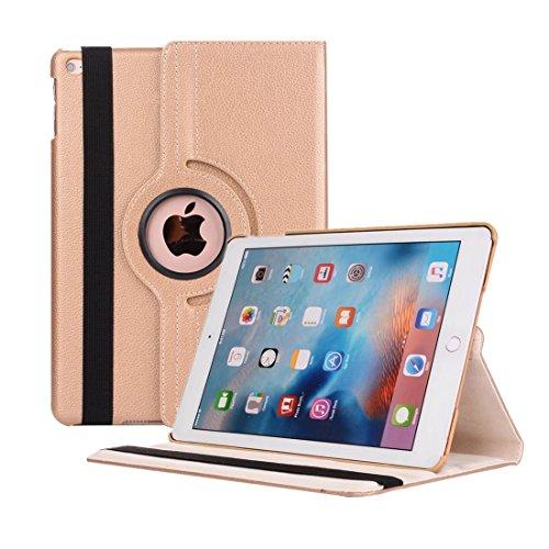 Zerobox iPad Mini 1/2 / 3 Case, 360 Degrees Rotating Multi Angles Screen Protective Stand with Auto Sleep/Wake Smart Cover for Apple iPad Mini 1 / iPad Mini 2 / iPad Mini 3 7.9 inch Tablet (Gold)