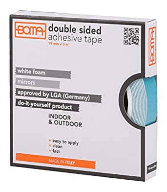 boma b53183300004 doppelseitiges klebeband f r spiegel 19 mm x 3 mt gewerbe. Black Bedroom Furniture Sets. Home Design Ideas