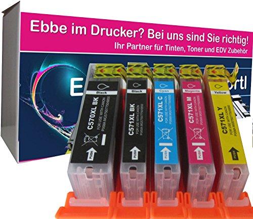 Preisvergleich Produktbild 5 komp. XL Druckerpatronen Ersatz für Canon Pixma PGI-570 CLI-571 XL für Canon MG 5750 5751 5752 5753 6850 6851 6852 6853 7750 7751 7752 7753 mit Chip
