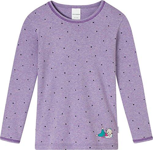 Schiesser Shirt Langarm Feinripp lila Größe 98