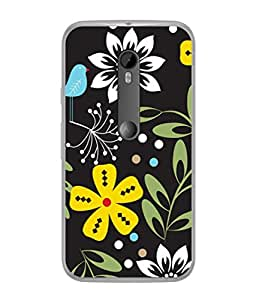 PrintVisa Art Designing Flowers High Gloss Designer Back Case Cover for Motorola Moto G3 :: Motorola Moto G (3rd Gen) :: Motorola Moto G3 Dual SIM