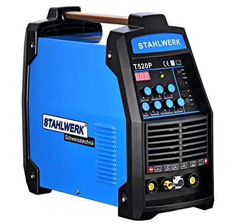 Preisvergleich Produktbild STAHLWERK Schweißgerät CT520 S Puls Inverter Mit plasma WIG ARC MMA STICK Elektrode