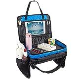 Kinder Reisetablett für Essen und Spielen Kleinkinder Rücksitz Organizer iPad & Tablet-Halter 17 Zoll von 13 Zoll Große Mesh-Seitentaschen & Wasserflaschenhalter
