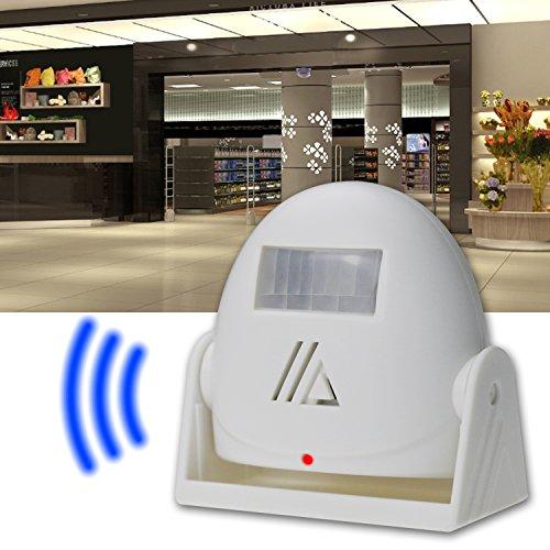 Ladenglocke, AmyTech Zutrittsmelder Bewegungsmelder Durchgangsmelder mit PIR Sensor Weiß