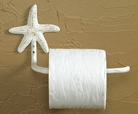 Shabby Chic Tropical Starfish Toilet Tissue Paper Holder-Antiqued White by Park Designs