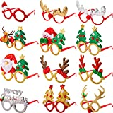 12 Paia Occhiali di Natale 3D novità Occhiali da Vista Festa di Natale Occhiali da Vista per Adulti Donne Foto Fotografia Taglia Unica Misura La Maggior Parte delle Persone (Stile B)