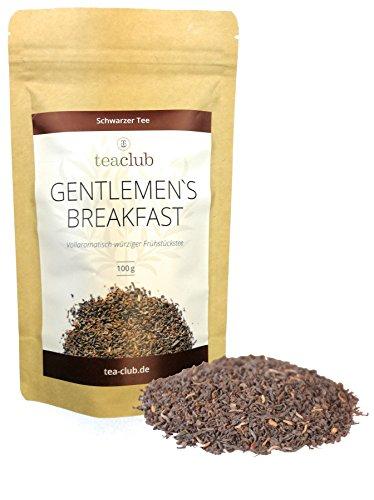 Schwarzer Tee Lose aus Assam und Sumatra 100g, Gentlemen's Breakfast Ostfriesen Tee Mischung, English Breakfast Schwarztee, TeaClub
