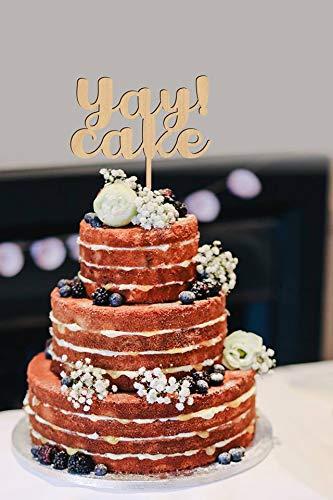 Andrea1Oliver Yay Kuchen Alles Gute zum Geburtstag Cake Topper Baby Dusche Dekor Jubil?um Party Bridal Shower Versammlungen benutzerdefinierte Cake Topper Partyplanung (Bridal Cake Topper Dusche)