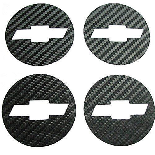 NewL Auto-Styling Carbon Faser Felgendeckel Emblem Aufkleber für Chevrolet Chevy Cruze 4er-Set 2011 2012